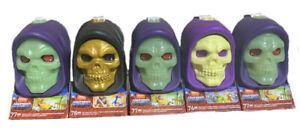 Mega Construx Masters Of The Universe HE-MAN Skeletor Skull Heads Complete Set