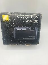 Nikon COOLPIX AW100 16.0MP Digital Camera Black Waterproof GPS Complete In Box