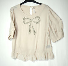 GREY LADIES PARTY FORMAL TOP BLOUSE SIZE 10 NEXT BEADED