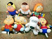 New Family Guy Plush Set of 7 Toy Doll Figures Quagmire Peter Meg Brian Lois Lot