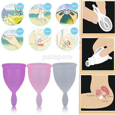 Reusable Silicone Menstrual Cup Period Soft Medical Diva Cups Small/Large Size
