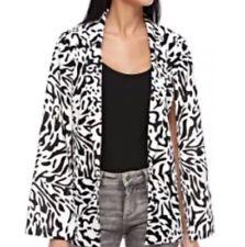Rare London Black and White Animal Printed Cape Sleeve Blazer Size 6 RRP£50 E109