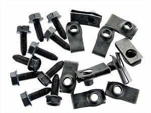 For Datsun Body Bolts & U-nut Clips- M8-1.25 x 25mm- 13mm Hex- 20pcs (10ea) #156