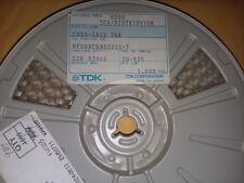 989x REEL TDK  HF50ACB453215-T FERRITE BEAD 125OHM 25% 100MHZ 300mA 1812 SMD
