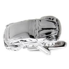 Iconic Car Beetle Pair Cufflinks Wedding Dad Fancy Gift Box & Polishing Cloth