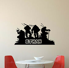 Personalized Name Ninja Turtles Wall Decal Vinyl Sticker TMNT Decor Poster 312
