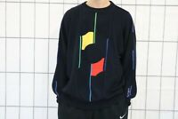 Carlo Colucci Vintage Herren Strickpullover Sweater Gr. 54 Blau DZ5