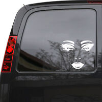 "Car Sticker Decal Female Face Sexy Lips Eyes Truck Laptop Window 6"" by 5"" m417c"