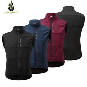 Cycling Warm Vest Fleece Bike Sleeveless Jerseys Windproof Bicycle Jacket Tops