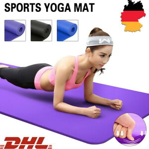 1cm/1.5cm Pilates Yogamatte Fitnessmatte Gymnastikmatte Sportmatte Matte Yoga DE