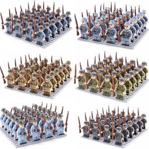LEGO* kompatibel Militär Geschütz Hot Minifiguren WW2 US Army