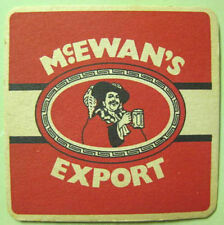 McEWAN'S EXPORT square foreign Beer COASTER, Mat w/ Man, SCOTLAND United Kingdom