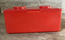 Vintage Chubs Baby Wipes Lego Stackable Storage Container Red FS