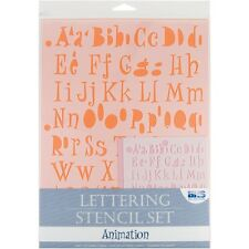 Animation Lettering Stencil Set - Blue Hills Studio Alphabet And Numbers