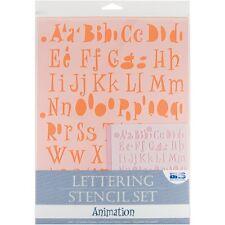 Animation Lettering Stencil Set - 4pc Sets