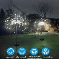 Solar Powered Starburst Firework LED Fairy String Lights Garden Path Lamp Xmas