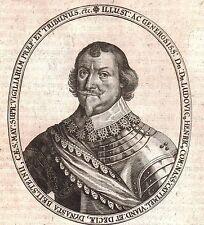 Portrait XVIIIe Ludwig Heinrich von Nassau Dillenburg Saarbrücken
