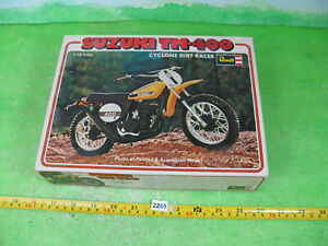 vintage revell model kit 1/12 suzuki motorbike tm400 started boxed 2265