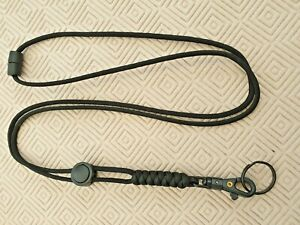 Survival Stealth Paracord Neck Lanyard for many uses (Military / Special Forces)