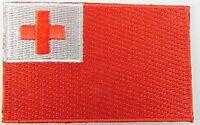 Tonga Aufnäher gestickt,Flagge Fahne,Patch,Aufbügler,6,5cm,neu
