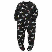 Carters NWT 6 12 18 24 Month 2T 3T 4T 5T Footed Fleece Pajama Baby Toddler BOYS