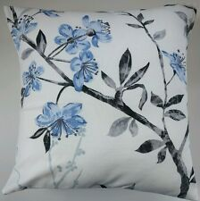 """Cushion Cover in Next Genevieve Blue Flowers Floral 16"""" Matches Curtains"""
