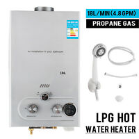 18L 5GPM Lpg Gas Propane Tankless Water Heater Instant Hot Water Boiler Shower