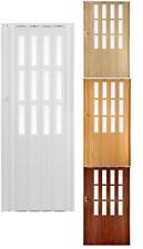 Falttür Schiebetür 4 farben mit Schloß und Fenster H. 203 cm B. bis 85 - 115 cm