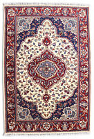 Indian Handmade Beige Area Wool Rugs Hand Knotted Floral Traditional Carpet 5x8