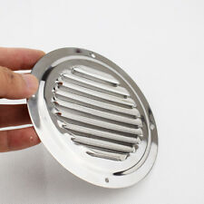 New 5 Inch Round Louvre Air Vent Ventilator Grille Cover Stainless Steel Useful