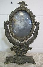 Antique Decorative Art Picture Mirror Frame Cherubs Cupid floral swivel ornate