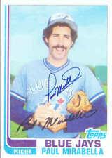 Paul Mirabella Autographed Toronto Blue Jays Topps Photo w/COA Cert.