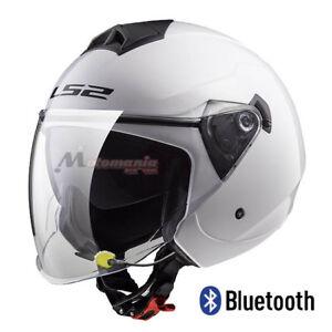 Casco de Moto LS2 OF573 Twister Blanco BLUETOOTH-INTERCOM Integrado