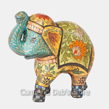 Hand Painted Terracotta Elephant Ornament Animal Figurine 22 cm