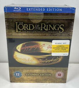 The Lord of the Rings Motion Picture Trilogy Extended Edition Blu-Ray New Sealed