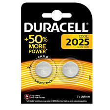 GENUINE 2X DURACELL CR2025 3V LITHIUM COIN CELL BATTERY 2025 DL/BR2025
