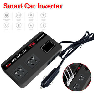 Power Inverter 200W 12/24V DC to 220V AC Car RV Rechargeable Device
