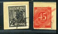 "Berlin 1, 2 Pf auf Kartenausschnitt geprüft ""SCHLEGEL BPP"" gestempelt #g814"