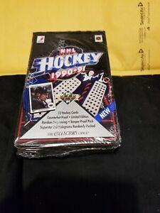 1990-91 UPPER DECK NHL HOCKEY WAX BOX SEALED UNOPENED