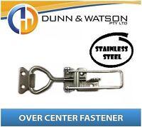 Medium Stainless Steel Over Centre / Center Fastener, Latch, Catch - Trailer