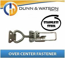 Large Stainless Steel Over Centre / Center Fastener, Latch, Catch - Trailer