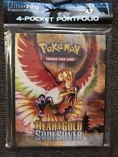 Ultra Pro Pokemon HeartGold & SoulSilver 4-Pocket Portfolio Ho-oh Lugia-  NEW