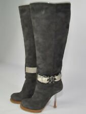 gianmarco lorenzi Brown Suede Buckle Boots, 38