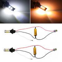 2x 1156 BA15S 42 SMD LED Canbus Switchback White DRL & Amber Turn Signal Light