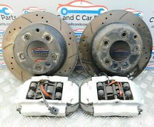 Porsche Cayenne Rear Brembo Brake Pair Calipers & Drilled Grooved Discs 955 S