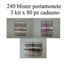 b654053b7b Blister per monete euro contenitori monete euro 240 pz 3x80 50 cent 1,2 euro