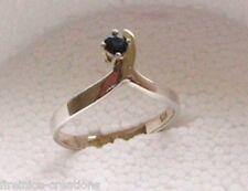 Natural Deep blue Australian Sapphire set in silver ring