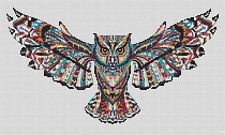 Indian Owl Counted Cross Stitch Kit  Owls/Wildlife Free 1st class Recorded post