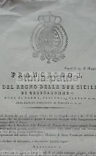 ANTICO EDITTO BORBONICO_STEMMA ARALDICO_PIETRO UGO_MARCHESE DELLE FAVARE_TOMMASI
