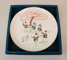 Fukagawa Porcelain Decor Plate Mask Dancing Japan Arita